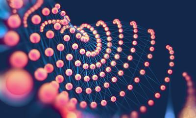 Fondo abstracto de internet y comunicacion.Malla con formas geometricas.Concepto de ciencia y tecnologia