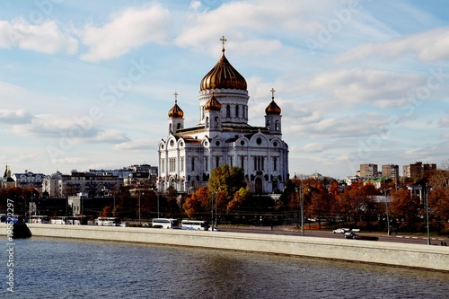 Tuinposter Moskou Cathedral of the Savior Christ, Moscow, Russia