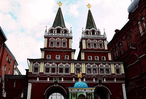 Fotobehang Moskou Nulevoy Kilometr Goroda Moskvy, Moscow, Russia
