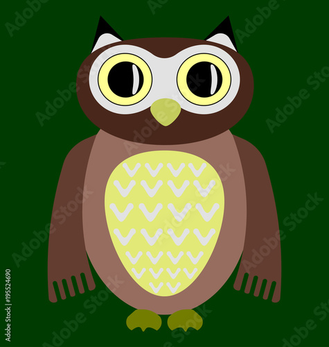 Fotobehang Uilen cartoon cartoon owl image