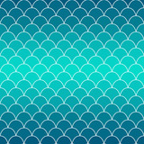 Texture of fish scales. Background in blue gradient. Seamless vector pattern. Nice for wallpaper, banner, fabric, paper, scrapbook, backdrop.