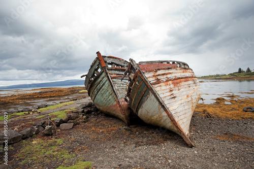 Fotobehang Schipbreuk Scotland, ship wrack
