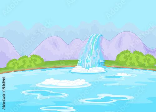 Aluminium Meisjeskamer Fabulous Waterfall
