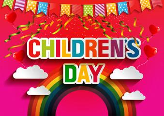 happy children's day anniversary. vector illustration.