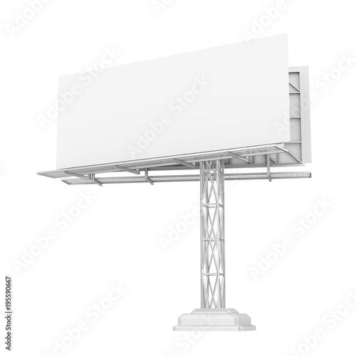 Blank White Billboard Isolated