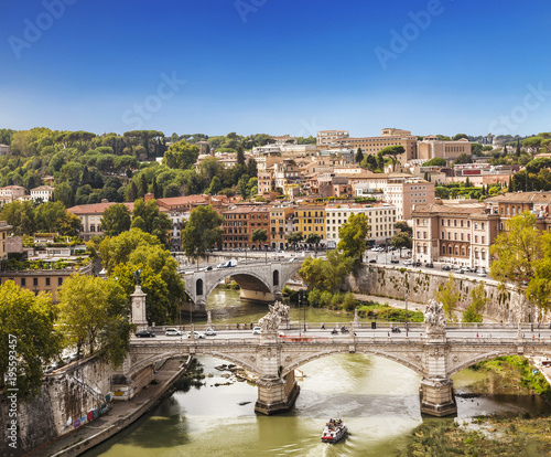 Foto op Canvas Rome The view on Rome from the Castel Sant'angelo, Italy