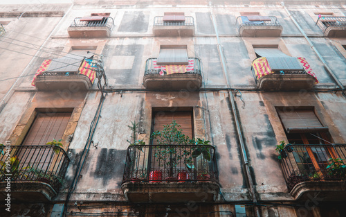 Old Spanish house facade