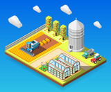 Agricultural Isometric Design Concept - 195601481