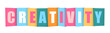 CREATIVITY Vector Letters Icon