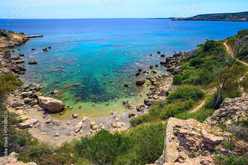 Coast of Mediterranean sea in Cyprus