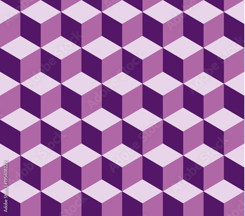 Violet square seamless vector pattern. Pattern included in swatch. - 195608222