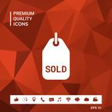 Sold tag symbol - 195614239