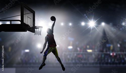 Fotobehang Basketbal It is game time. Mixed media