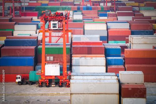 Aluminium container yard in shanghai