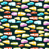 Vector background based on transport and cars