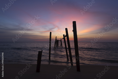 Aluminium Aubergine Sunset at Pilai beach