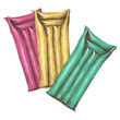 three air mattresses for swimming sketch vector graphics colored drawing