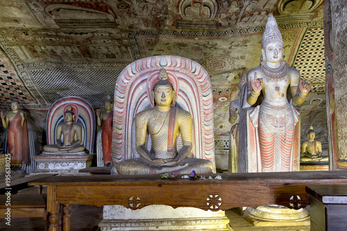 Sacred Golden Temple cave Buddha