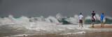 Surfer am Strand, Panorama, XXL