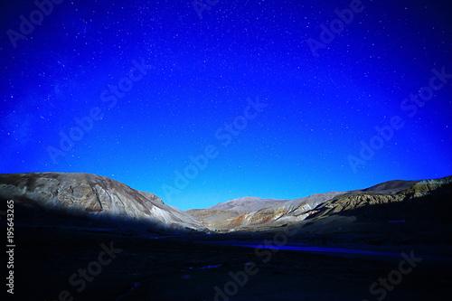 Foto op Plexiglas Donkerblauw mountains in tibet china landscape
