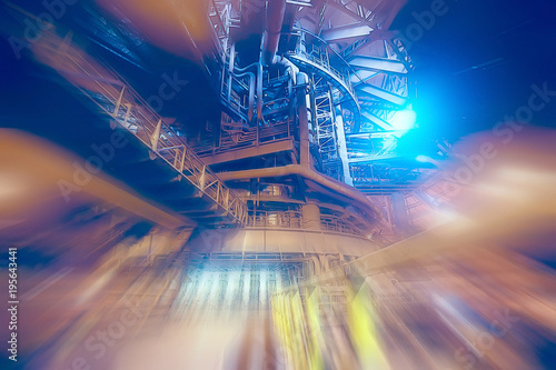 industrial technological blurry background in the factory