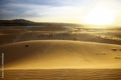 Fotobehang Honing Sand mountains in the desert