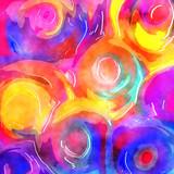 Vibrant Digital Watercolor Swirl Background Paper
