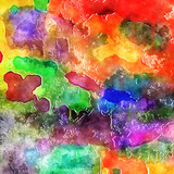Colorful Digital Watercolor Ink Paint Blend Background