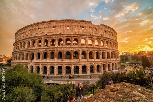 Poster Rome Colosseo dopo il tramonto