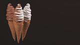 Ice Cream Soft Serve Vanilla Chocolate Twist