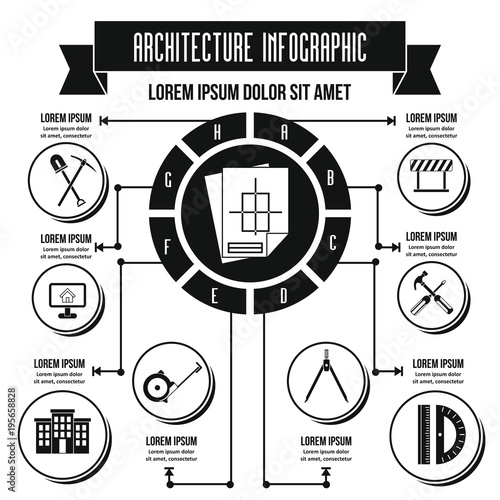 Architecture infographic concept, flat style