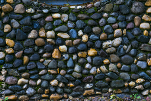 Poster Stenen This is a river stone wall