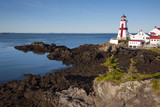 Canadian Lighthouse with Lowest Tide - 195662651