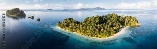 Aerial View of Idyllic, Tropical Islands in Raja Ampat