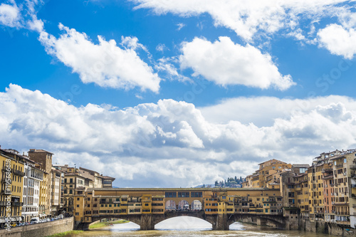 Poster Florence View of Ponte Vecchio, Florence, Italy