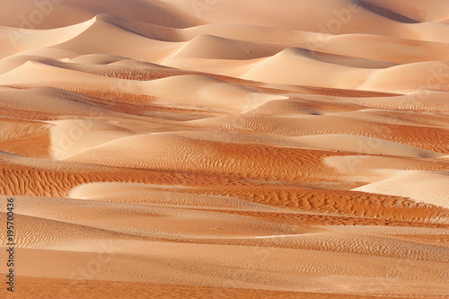 Fotobehang Abu Dhabi Abstract Dune Patterns in the Empty Quarter