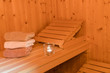 Leinwanddruck Bild - Wellness in der Sauna