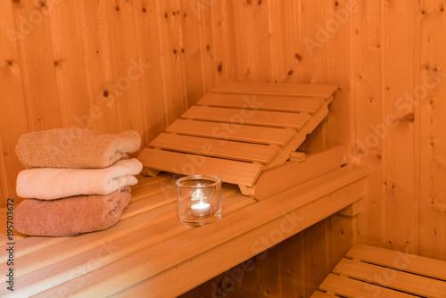 Leinwanddruck Bild Wellness in der Sauna
