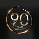 Template Logo 90 Years Anniversary Vector Illustration