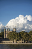 Vibrant landscape image of Tower of London on summer day with blue sky - 195712665