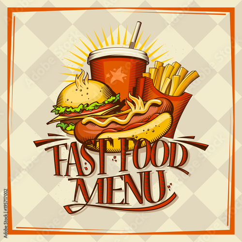 Fast food menu design concept - 195717002