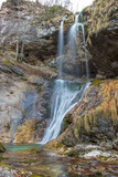 Waterfall in Bohinj valley