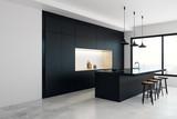 Modern kitchen studio interior - 195719860