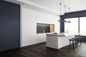 Contemporary kitchen studio interior