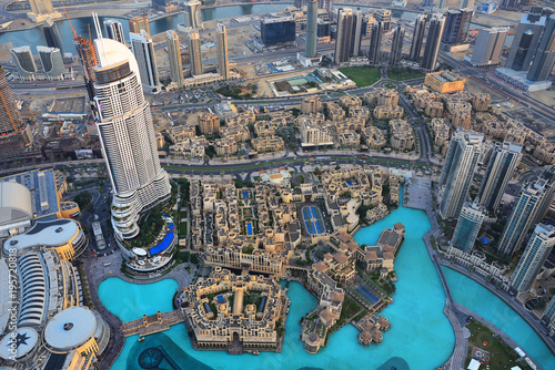 obraz PCV Aerial view of Dubai downtown