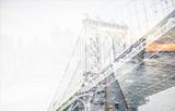 Manhattan bridge in New york city - 195721465
