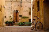 Old street in Pienza, Italy