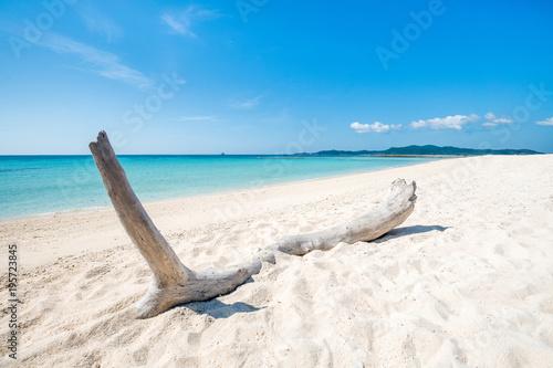 Hatenohama plaża przegapia Kumejima wyspę, Okinawa, Japonia