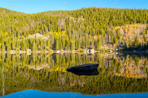 Fotobehang Honing Bear Lake, Rocky Mountains, Colorado, USA.