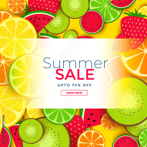 fruits background for summer sale